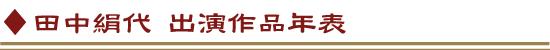 田中絹代 出演作品年表
